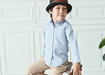 韓版男童帥氣格紋長袖襯衫-嬰兒,幼兒,孕婦,童裝,孕婦裝