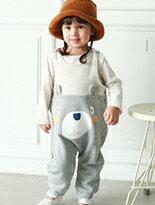 條紋內刷毛造型吊帶褲-嬰兒,幼兒,孕婦,童裝,孕婦裝
