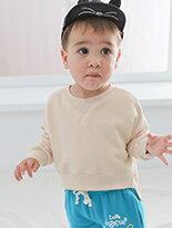 兒童素面刷毛厚T恤-嬰兒,幼兒,孕婦,童裝,孕婦裝
