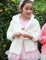 玫瑰絨牛角釦連帽保暖-嬰兒,幼兒,孕婦,童裝,孕婦裝