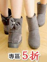 【kirakria】人氣百搭韓版蝴蝶結短筒雪靴↘$240