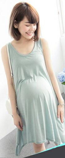 素面修身傘狀背心洋裝-嬰兒,幼兒,孕婦,童裝,孕婦裝