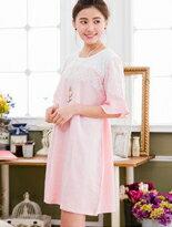 時尚格紋優雅蕾絲拼接-嬰兒,幼兒,孕婦,童裝,孕婦裝