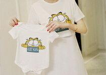 甜蜜款1+1可愛咖啡貓圖案孕婦-嬰兒,幼兒,孕婦,童裝,孕婦裝