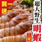 買一「份」送一「份」→20cm超大野生明蝦6入
