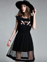 歐美修身大擺洋裝-女裝,內衣,睡衣,女鞋,洋裝