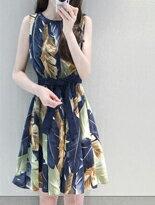 印花無袖洋裝-女裝,內衣,睡衣,女鞋,洋裝