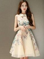 唯美歐根紗無袖洋裝-女裝,內衣,睡衣,女鞋,洋裝