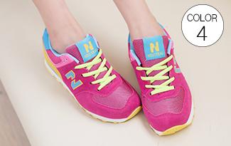 熱銷撞色N字休閒運動鞋-女裝,內衣,睡衣,女鞋,洋裝