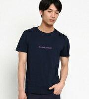 THE SHOP TK 圓領字母印花單袖拼接短袖T恤 男裝