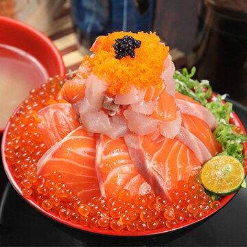 鮭魚火山丼