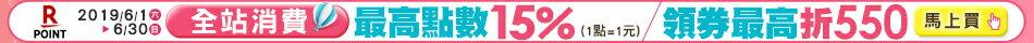 樂天會員日:全站消費滿額,賺最高點數15%