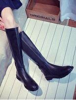 清歐美簡約素面長靴-女裝,內衣,睡衣,女鞋,洋裝