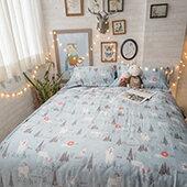 居家生活-床包-天絲床包組【熊森林】