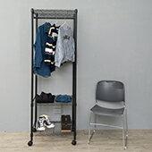 三層單桿收納衣櫥三色